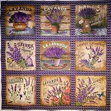 Textil - Bavlněná sada LEVANDULE 66x66cm - 9913246_