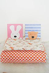 Textil - SeT... Paplónik a vankúšik... jednorožce a trojuholníky - 9911141_