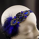 Ozdoby do vlasov - Great Gatsby Blue ... čelenka - 9911464_