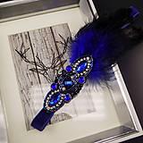 Ozdoby do vlasov - Great Gatsby Blue ... čelenka - 9911468_