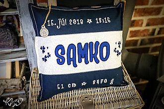 """Úžitkový textil - Vankúšik pre novorodenca """"Samko"""" - 9913462_"""