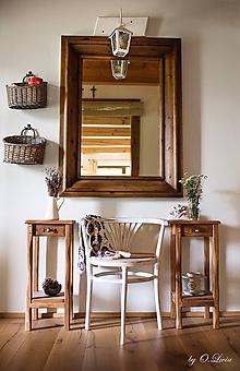 Nábytok - Stolík so šuflíkom Natural - DUB,kartáč,olej - 9910786_