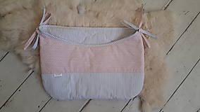 Textil - Plienkovník  na posieľku  :  sivý/ružový - 9911698_