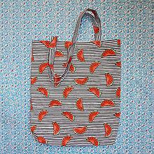 Nákupné tašky - Nákupná taška - pásikavý melón - 9912860_