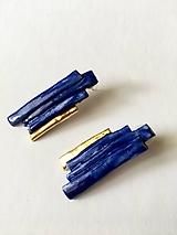 Náušnice - kráľovská modrá /keramika/ - 9910609_