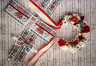 Opasky - Exkluzívny ľudový opasok - 9913451_
