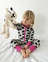 Detské oblečenie - Rastúci overal - merino vlna (veľ. 105-116cm (4-6rokov) – 19 farieb) - 9912197_
