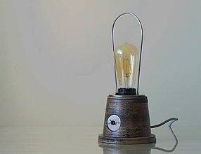 Svietidlá a sviečky - Stolná lampa BASIX PLUS (Hnedá) - 9912894_