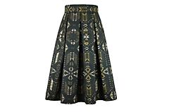 Sukne - midi sukňa so vzorom