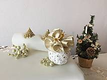 Dekorácie - Vianočná guľa I (zlatá) - 9911763_