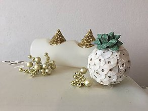 Dekorácie - Vianočná guľa I (zelená) - 9911774_