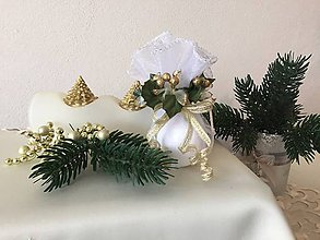 Dekorácie - Vianočná guľa III (zlatá) - 9911911_