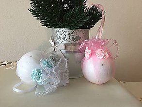 Dekorácie - Vianočná guľa III (ružová) - 9911913_