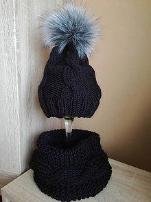 Detské čiapky - Čierny set - 9912626_