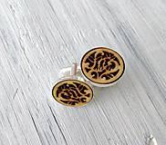 """Šperky - Manžetové gombíky """"Láska"""" prírodné - 9911385_"""
