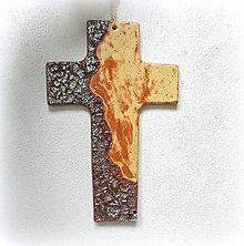 Dekorácie - Keramický kríž - S reliéfom - - 9912314_