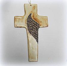 Dekorácie - Keramický kríž - 9912472_