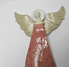 Dekorácie - Keramický anjel na stenu - 9912505_
