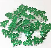 Gombík plastový metalický STROMČEK 1,3 x 1,7 cm (Zelená)