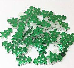Galantéria - Gombík plastový metalický STROMČEK 1,3 x 1,7 cm - 9912837_