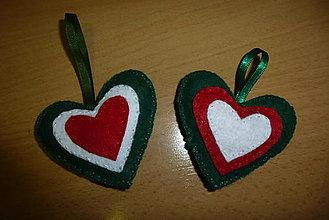 Drobnosti - vianočné srdiečko - 9910629_