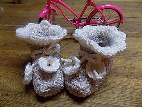 Topánočky - papučky -capačky béžové - 9913555_
