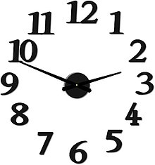 Hodiny - Moderné nástenné hodiny JOLYI FOX Plexi  X0066 (Silver zrkadlo) - 9911907_