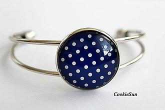 Náramky - Dots Dark Blue - 9913570_