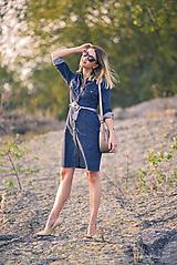 Šaty - Denimové šaty - 9913621_