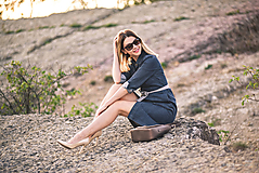 Šaty - Denimové šaty - 9913626_