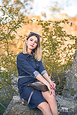 Šaty - Denimové šaty - 9913629_