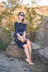 Šaty - Denimové šaty - 9913630_