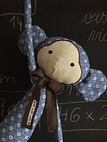 Hračky - opička modrá - 9910615_