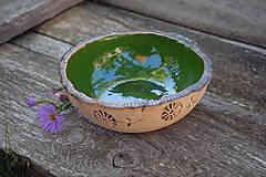 Nádoby - Keramická miska zelená - 9911628_