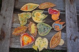 Svietidlá a sviečky - Keramický listo-svietnik veľ. M - 9911581_