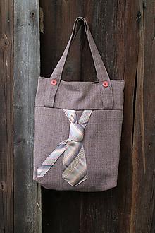 Kabelky - hnedá kravatenka - 9913156_