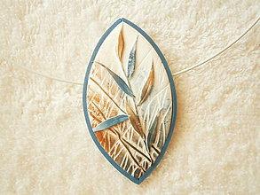 Náhrdelníky - Náhrdelník z polyméru, tráva - 9912222_