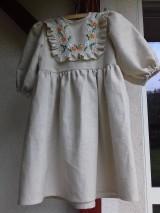 Detské oblečenie - Ľanové ručne vyšívané šatočky - 9910905_