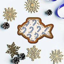 Grafika - Vianočné grafické perníky so vzorom - kapor (vianočné lízatko) - 9912330_