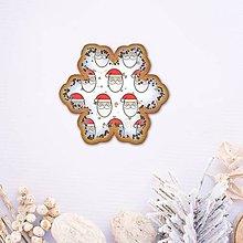 Grafika - Vianočné grafické perníky so vzorom - snehová vločka (Santa Claus) - 9913262_