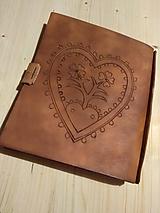 Kožený zápisník - receptár