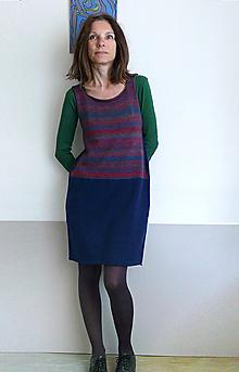 Šaty - šatová sukňa tmavomodrá - 9912115_