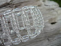 Náramky - VÝPREDAJ! Náramok na drôtiku...crystal - 9918025_