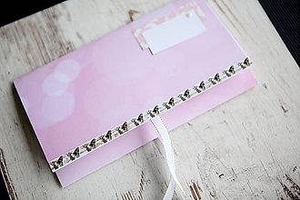 Papiernictvo - Scrapbook obálka na peniaze - ružová - 9917629_