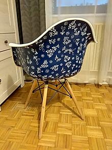Nábytok - Stolička DAG modrotlač _2 - 9916810_
