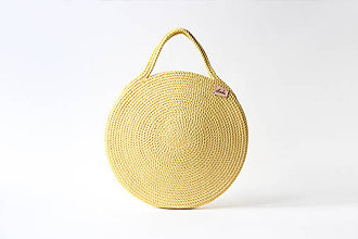 Kabelky - Kabelka kulatá zlatá - 9915291_