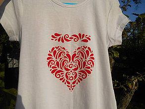 Detské oblečenie - srdenko moje-folk detské-dievčenské - 9917963_