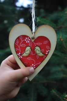Dekorácie - Vianočná ozdoba - vtáčiky - 9917926_