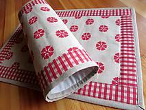 Úžitkový textil - Prestieranie červená vločka - 9914709_