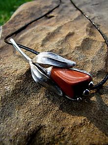 Odznaky/Brošne - Červený tulipán - 9917089_